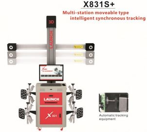 3D 4 Post Car Alignment Lifts Platform ความสูงคงที่ 32 '' Display Original LAUNCH X831T